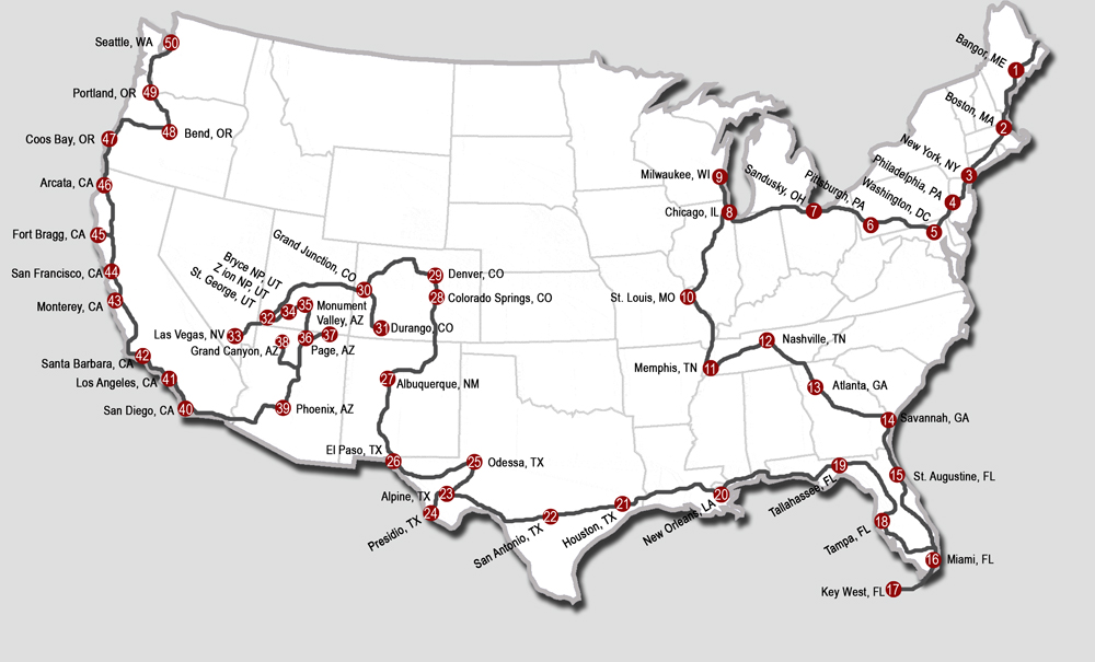 USA by Greyhound: Crossing America by bus
